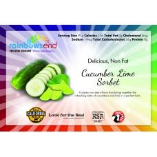 Rainbow's End Cucumber Lime Sorbet 4/1 Gallon