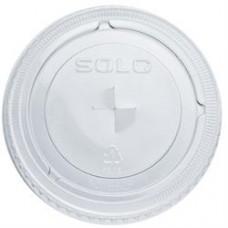 662ts Flat Lid W/Hole & Buttons Fits 12-24 Oz 1000/Ct