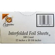 WRAP FOIL SHEETS 12X10.75 INTERFOLD POP UP 12/200CT