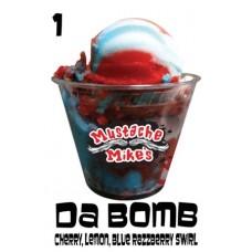 M Mikes Da Bomb Italian Ice Pints 6/Ct