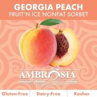 Fruit N Ice Georgia Peach Sorbet 6/64 Oz- Spo Surfnyogurt