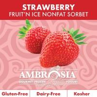 Fruit N Ice Strawberry Sorbet 6/64 Oz