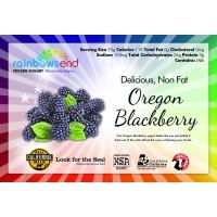 Rainbow's End Non-Fat Oregon Blackberry Yogurt 4/1 Gallon